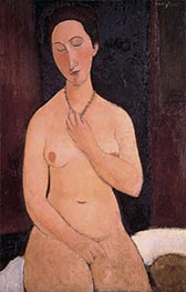 Sitting Nude with Necklace | Modigliani | Painting Reproduction