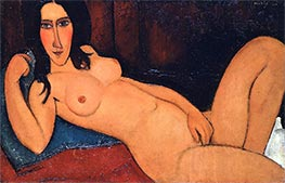 Reclining Nude with Loose Hair, 1917 by Modigliani | Painting Reproduction