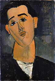 Juan Gris, 1915 by Modigliani | Painting Reproduction