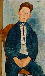 Boy in a Striped Sweater | Modigliani | Painting Reproduction