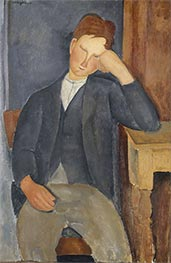 The Young Apprentice, c.1918/19 by Modigliani | Painting Reproduction