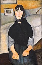 Young Woman of the People, 1918 by Modigliani | Painting Reproduction