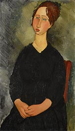 Little Servant Girl, c.1916 by Modigliani | Painting Reproduction