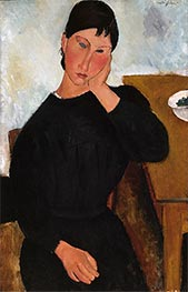 Elvira Resting at a Table | Modigliani | Painting Reproduction