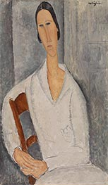 Madame Hanka Zborowska Leaning on a Chair | Modigliani | Painting Reproduction
