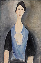 Young Woman in Blue | Modigliani | Painting Reproduction