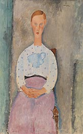 Girl with a Polka-Dot Blouse | Modigliani | Painting Reproduction