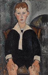 Boy in Sailor Suit, 1917 by Modigliani | Painting Reproduction