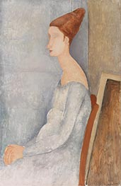 Portrait of Jeanne Hébuterne, 1918 by Modigliani | Painting Reproduction