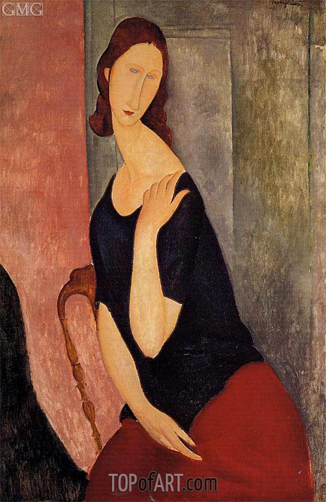 Portrait of Jeanne Hebuterne, 1919 | Modigliani | Painting Reproduction