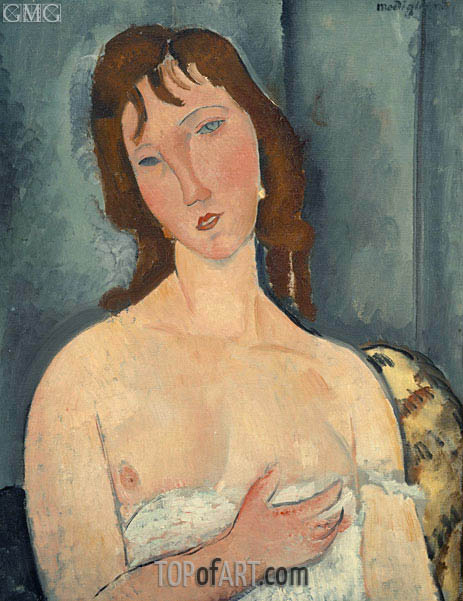 Portrait of a Young Woman, c.1916/19 | Modigliani | Painting Reproduction