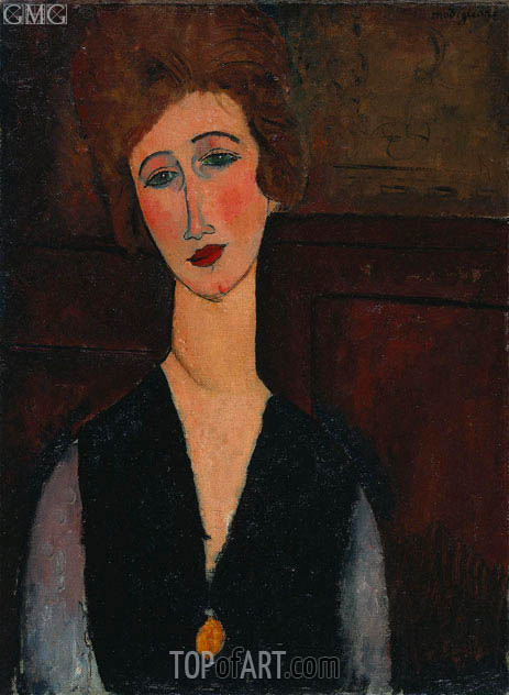 Portrait of a Woman, c.1917/18 | Modigliani | Painting Reproduction