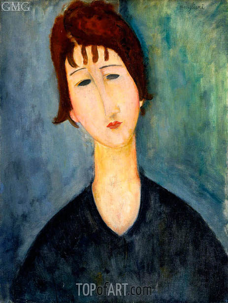 A Woman, c.1917/20 | Modigliani | Painting Reproduction