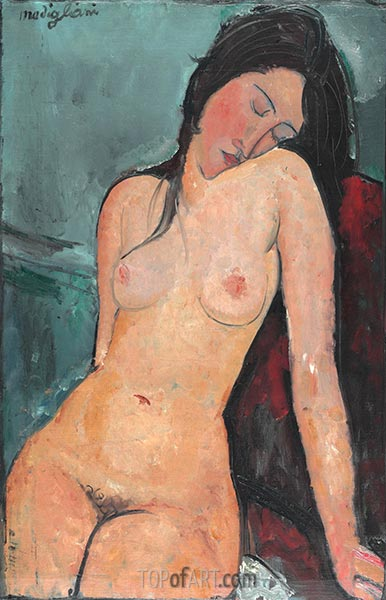 Female Nude, c.1916 | Modigliani | Painting Reproduction