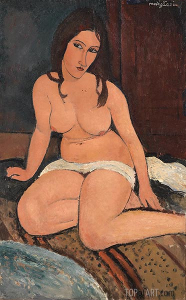 Seated Nude, 1917 | Modigliani | Painting Reproduction