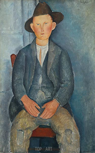 The Little Peasant, c.1918 | Modigliani | Painting Reproduction