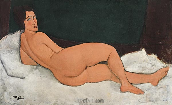 Reclining Nude, 1917 | Modigliani | Painting Reproduction