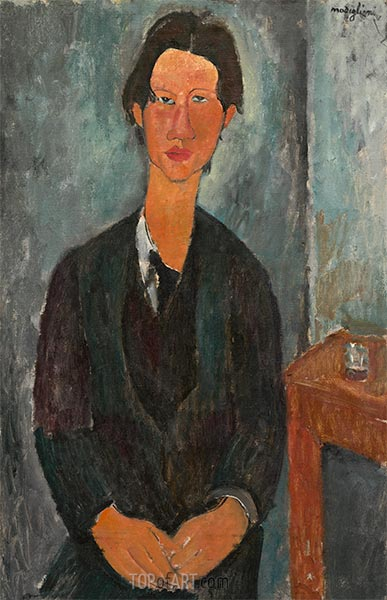 Chaim Soutine, 1917 | Modigliani | Painting Reproduction