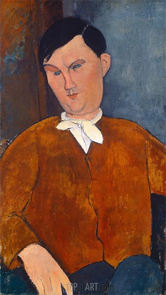 Monsieur Deleu, 1916 | Modigliani | Painting Reproduction