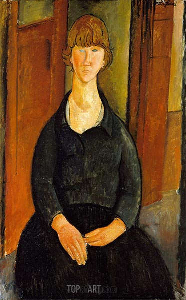 Flower Vendor, 1919 | Modigliani | Painting Reproduction