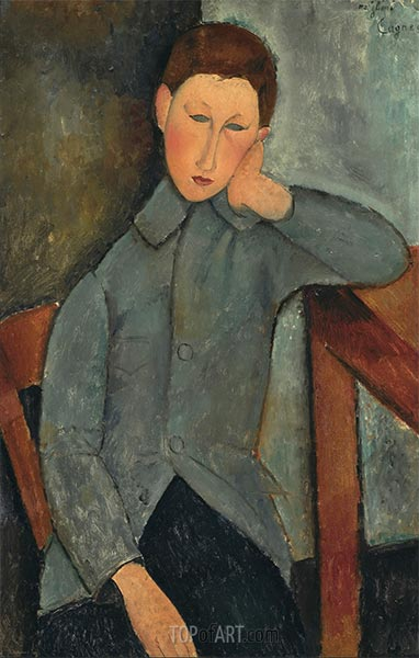 The Boy, 1919 | Modigliani | Painting Reproduction
