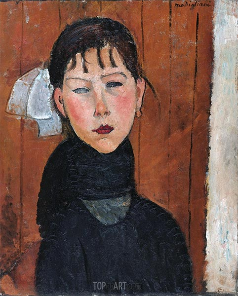 Marie, Daughter of the People, 1918 | Modigliani | Painting Reproduction