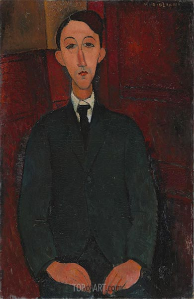 Portrait of the Painter Manuel Humbert, 1916 | Modigliani | Painting Reproduction