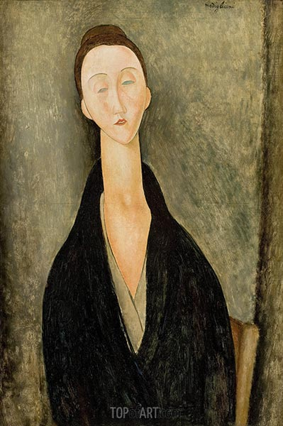 Lunia Czechowska, c.1918 | Modigliani | Painting Reproduction