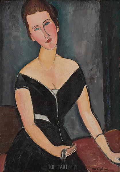 Madame G. van Muyden, c.1916/17 | Modigliani | Painting Reproduction