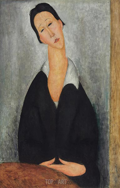 Portrait of a Polish Woman, 1919 | Modigliani | Painting Reproduction