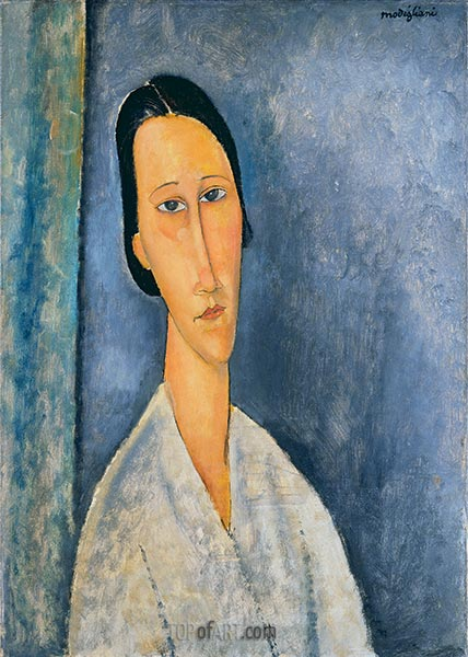 Madame Zborowska, 1918 | Modigliani | Painting Reproduction