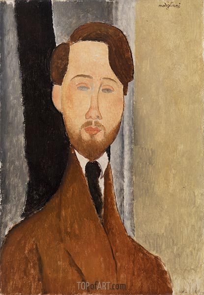 Léopold Zborowksi, 1919 | Modigliani | Painting Reproduction