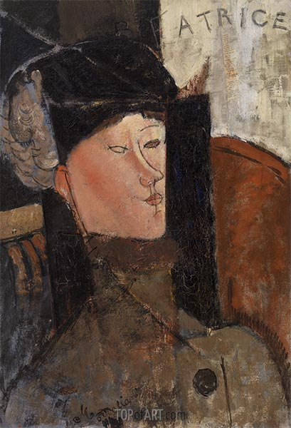 Beatrice, 1916 | Modigliani | Painting Reproduction