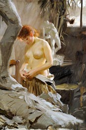In Wikström's Studio, 1889 by Anders Zorn | Painting Reproduction