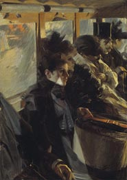 Omnibus, 1892 by Anders Zorn | Painting Reproduction