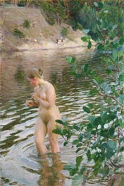 Frileuse (Shivering Girl), 1894 by Anders Zorn | Painting Reproduction