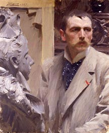 Self-Portrait, 1889 by Anders Zorn | Painting Reproduction
