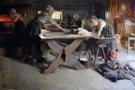 Baking Bread, 1889 by Anders Zorn | Painting Reproduction
