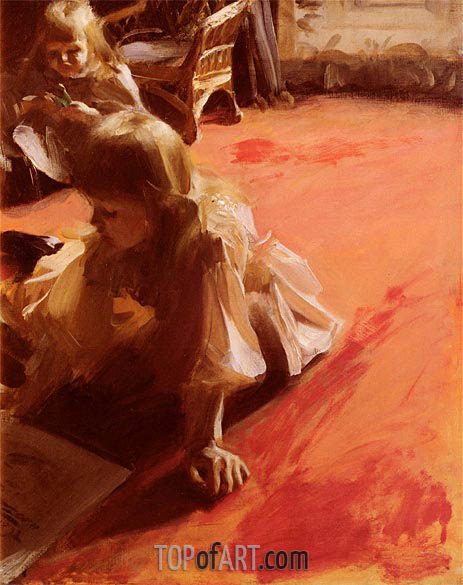 Portrait of the Daughters of Ramon Subercasseaux, 1892 | Anders Zorn | Painting Reproduction