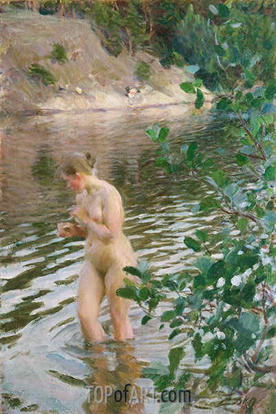 Frileuse (Shivering Girl), 1894 | Anders Zorn | Painting Reproduction