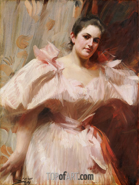 Frieda Schiff, Later Mrs. Felix M. Warburg, 1894 | Anders Zorn | Painting Reproduction