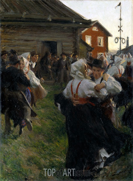 Midsummer Dance, 1897 | Anders Zorn | Painting Reproduction