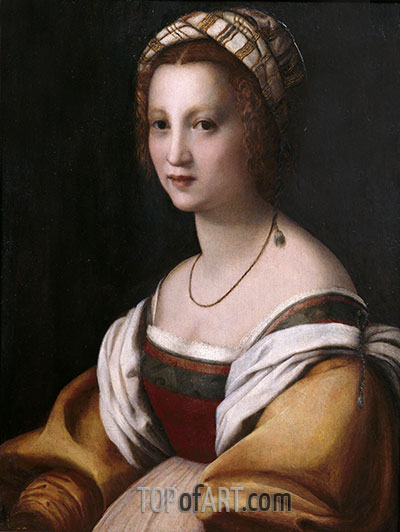 Portrait of a Woman, c.1514 | Andrea del Sarto | Painting Reproduction