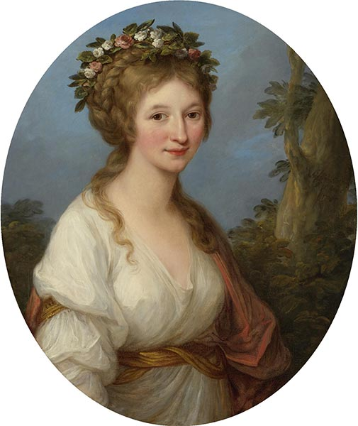 Portrait of a Young Woman (Anna Charlotta Dorothea von Medem), 1785 | Angelica Kauffmann | Painting Reproduction