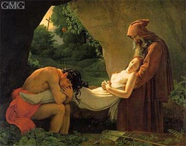 The Entombment of Atala (The Burial of Atala), 1808 von Girodet de Roussy-Trioson | Gemälde-Reproduktion