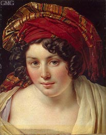 Head of a Woman in a Turban, c.1820 von Girodet de Roussy-Trioson | Gemälde-Reproduktion
