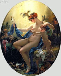 Portrait of Mlle Lange as Danae, 1799 by Girodet de Roussy-Trioson | Painting Reproduction