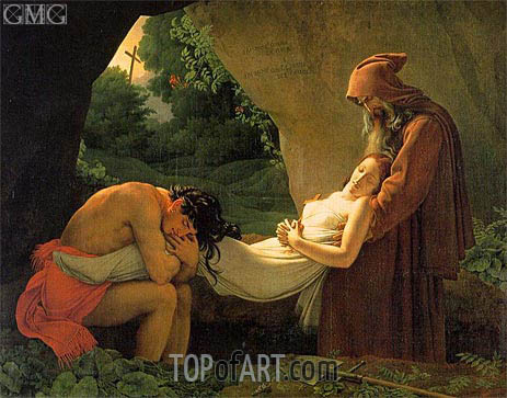 The Entombment of Atala (The Burial of Atala), 1808 | Girodet de Roussy-Trioson | Painting Reproduction
