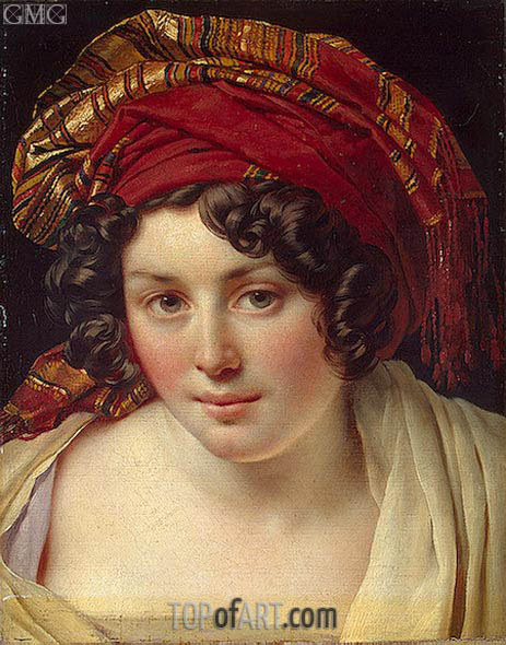 Head of a Woman in a Turban, c.1820 | Girodet de Roussy-Trioson | Gemälde Reproduktion
