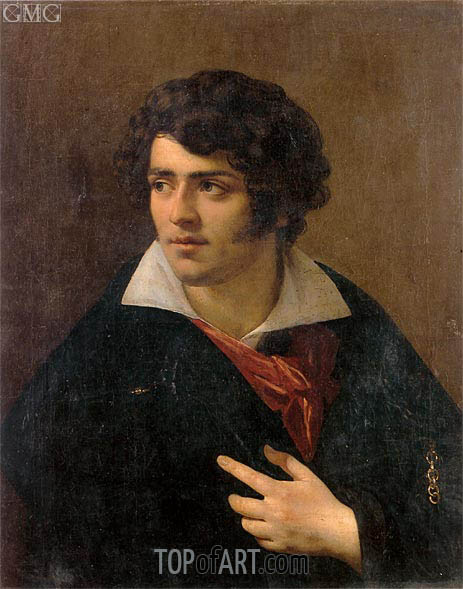 Portrait of a Young Man, undated | Girodet de Roussy-Trioson | Painting Reproduction